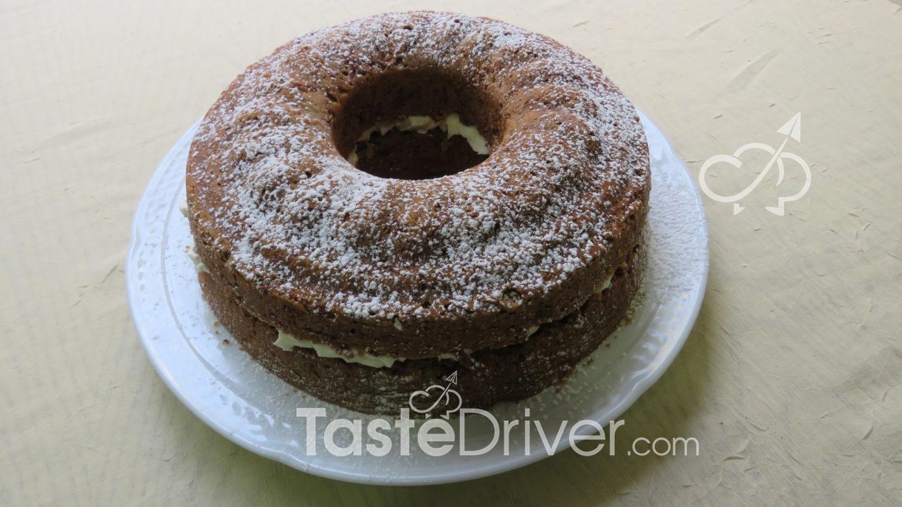 Κέικ καρότου με στέβια παραγεμιστό με κρέμα τυριού Γρεβενών