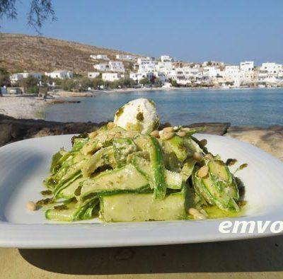 Zucchini-Carpaccio-with-fennel-pesto-and-cream-cheese