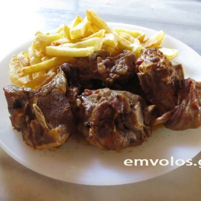 goat-with-fried-potatoes