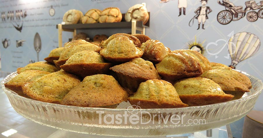 Madeleine cookies with aromatic herbs