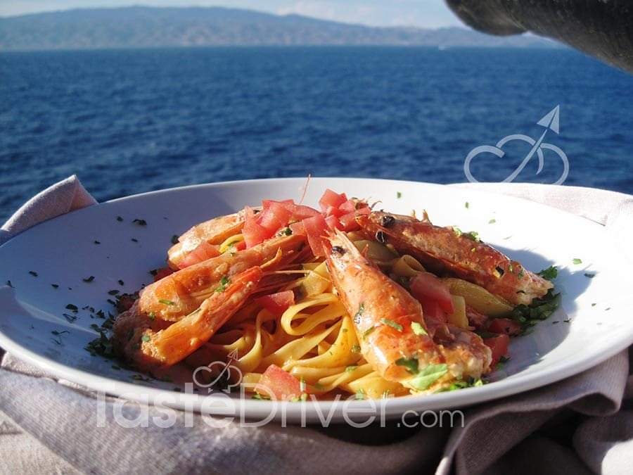 Pasta with crawfish of Hydra
