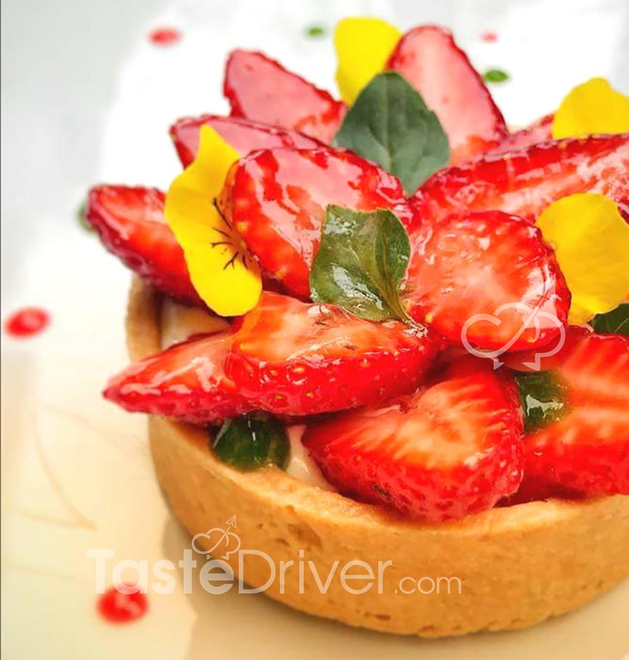 The secret that preserves the strawberries fresh and shiny on the tart