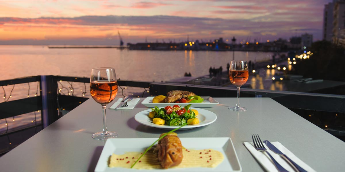 Αγιολί, δείπνο, θέα, κρασί. agioli, Salonique
