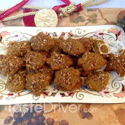 melomakarona, μελομακάρονα, αμύγδαλο, μέλι