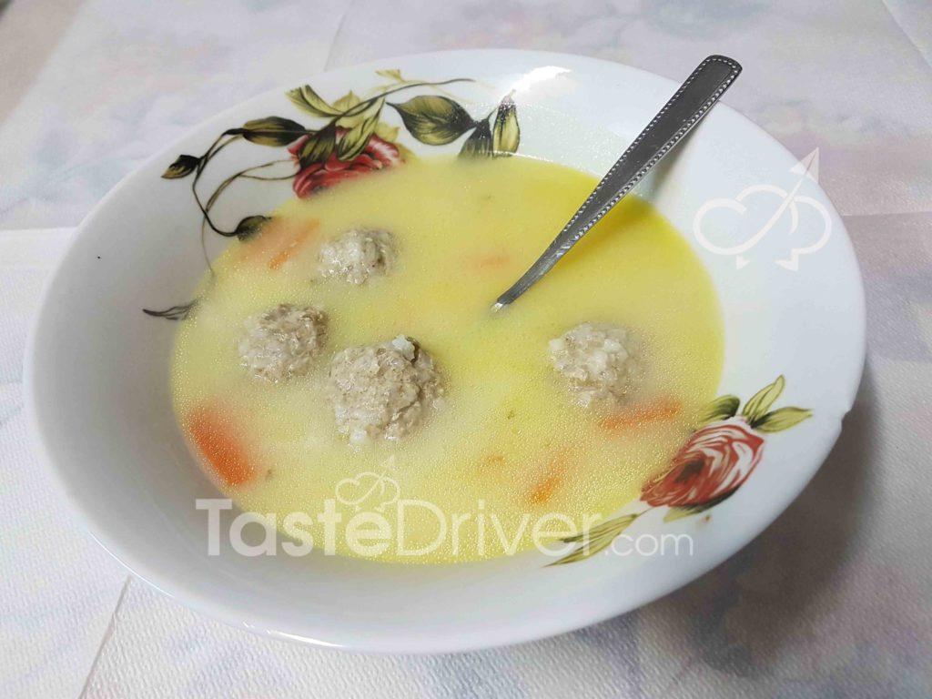 γιουβαρλάκια, σούπα