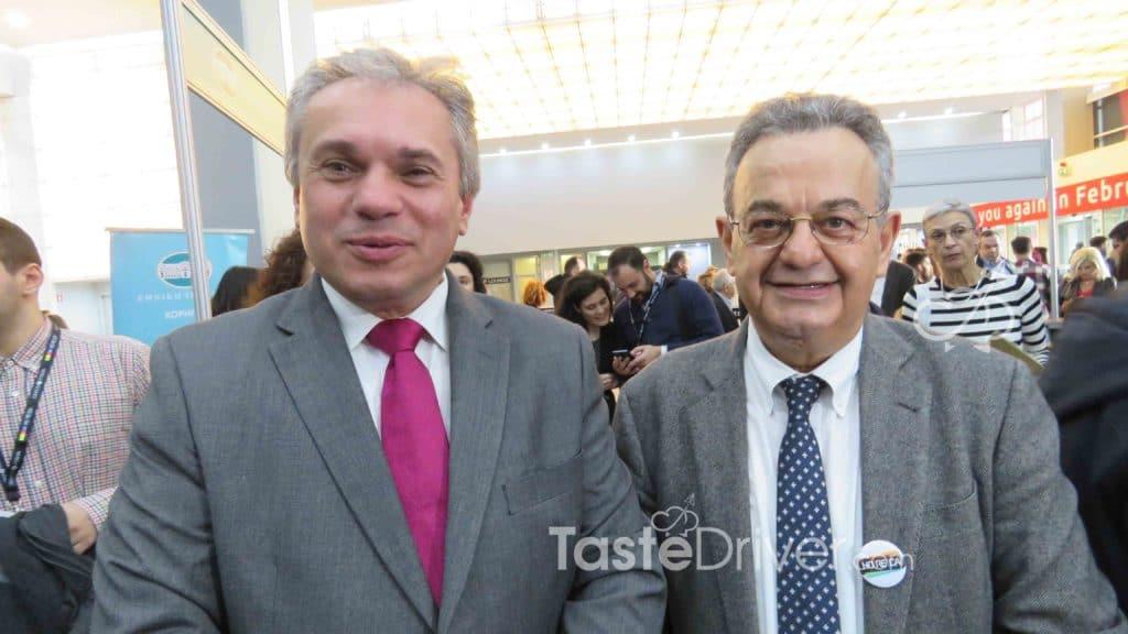 Ο κ. Νίκος Χουδαλάκης Διευθύνων Σύμβουλος της εταιρίας Forum A.E, διοργανώτριας εταιρίας της HORECA, με τον κ. Βασίλη Σταθάκη, Ιδρυτή και Πρόεδρο του EHICA