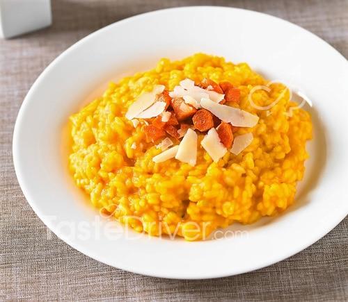Ριζότο με καρότο με κρεμμύδι