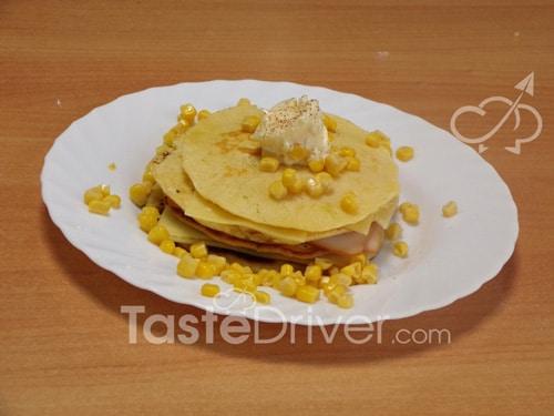 Pancake με γαλοπούλα κασέρι