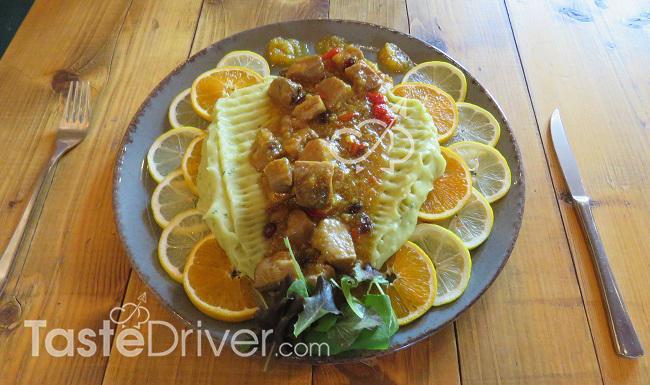 Ψαρονέφρι με πουρέ πατάτας και σελινόριζα