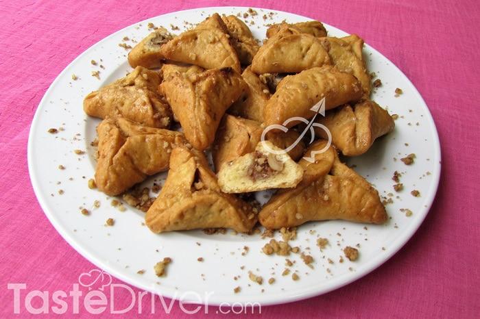 Παραγεμιστά μπισκότα με καρύδια