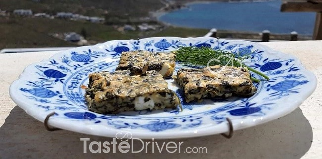 Spinach (cheese) Pie from Mykonos