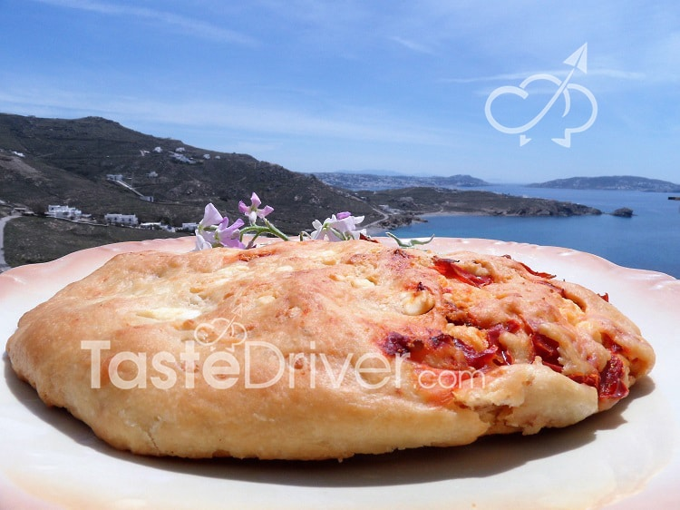 Cheese bread with Florina pepper