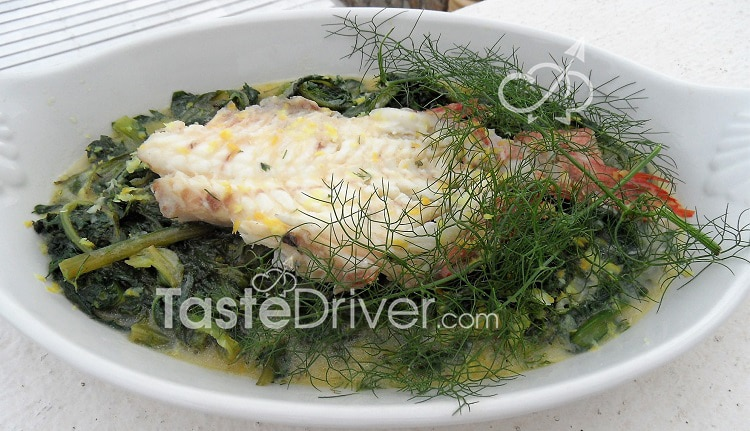 Fricassee fish with aromatics