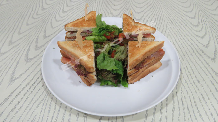 Summer double decker club sandwich that is delicious and filling!