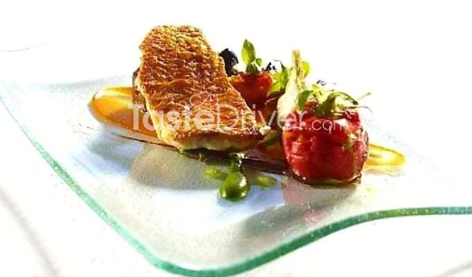 Φιλέτο ψαριού με κρούστα πορτοκαλιού